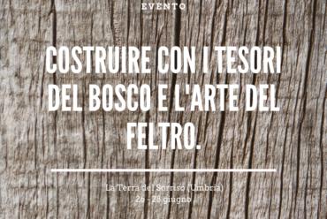 COSTRUIRE CON I TESORI DEL BOSCO E L'ARTE DEL FELTRO